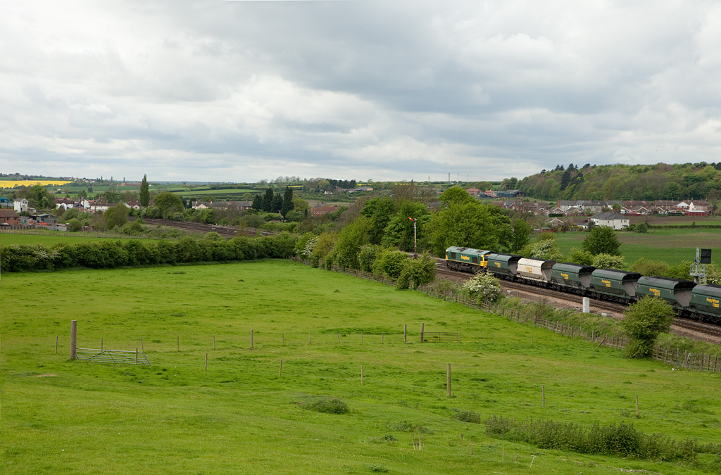 Freightliner coal train approaching Barnetby westbound.