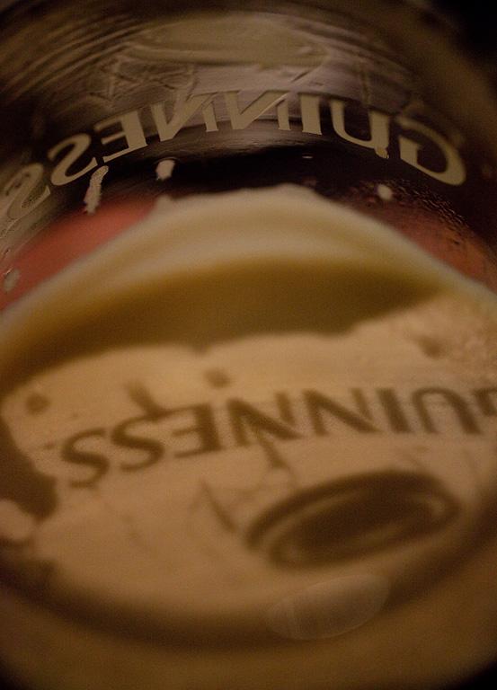 Guinness at night.