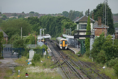 Southeastern Trains 375 309 in Canterbury East, Kent.