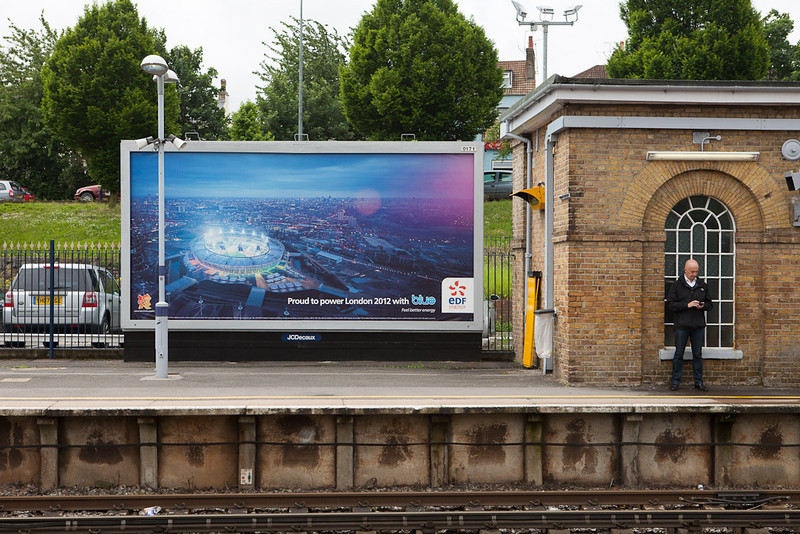 London 2012 advertisement in Gravesend Central.
