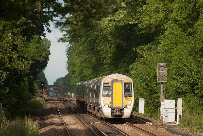 Southeastern Trains 375 814 in Pluckley, Kent.