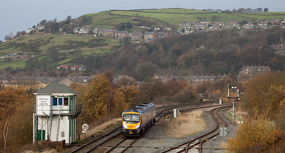 FGW 185 115 as First Transpennine Express passing New Mills South Jct.