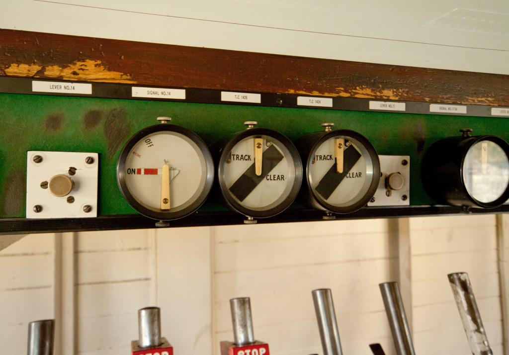 Inside Great Rocks Jct. signal box.