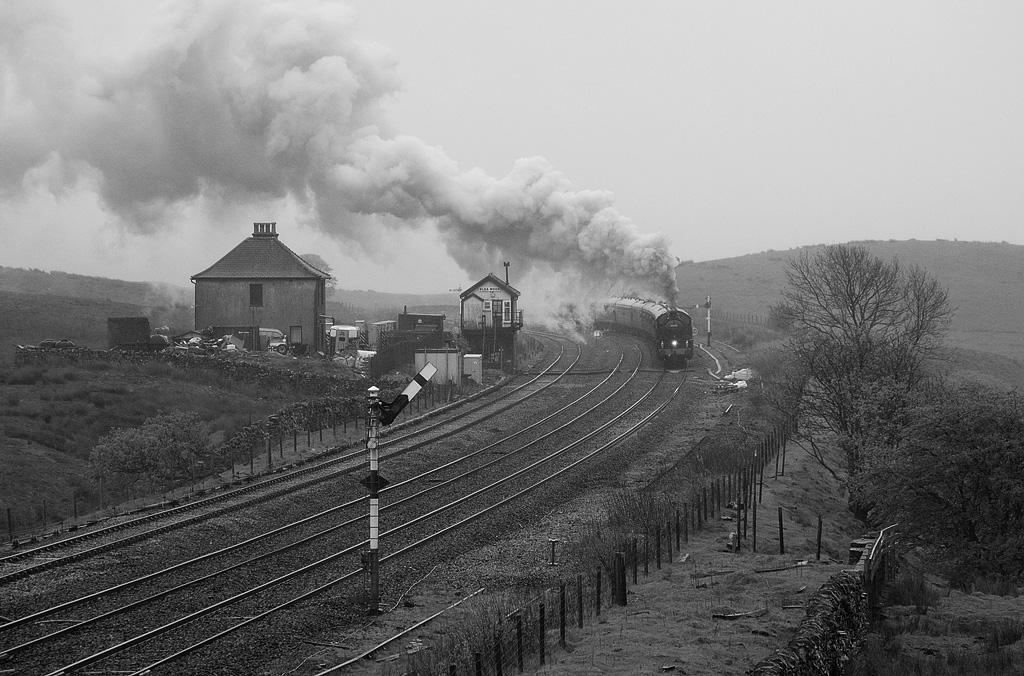 2-6-0 62005 with special train in Blea Moor.