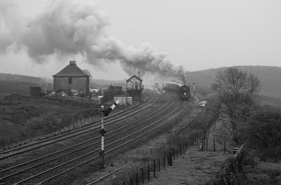 2-6-0 62005 with special train in Blea Moor.