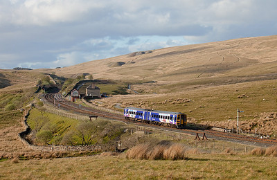 158 902 in Blea Moor headed for Carlisle.