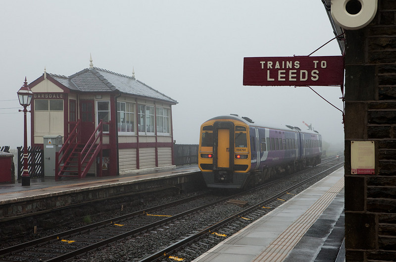 158 791 bound for Carlisle in Garsdale.