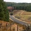 DMU exiting Blea Moor Tunnel.