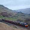 DRS 66437 with the railhead treatment train in Ais Gill.