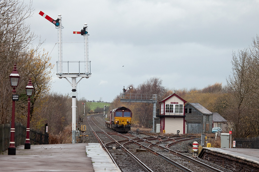 EWS 66055 with 6K05 engineering train in Appleby North.