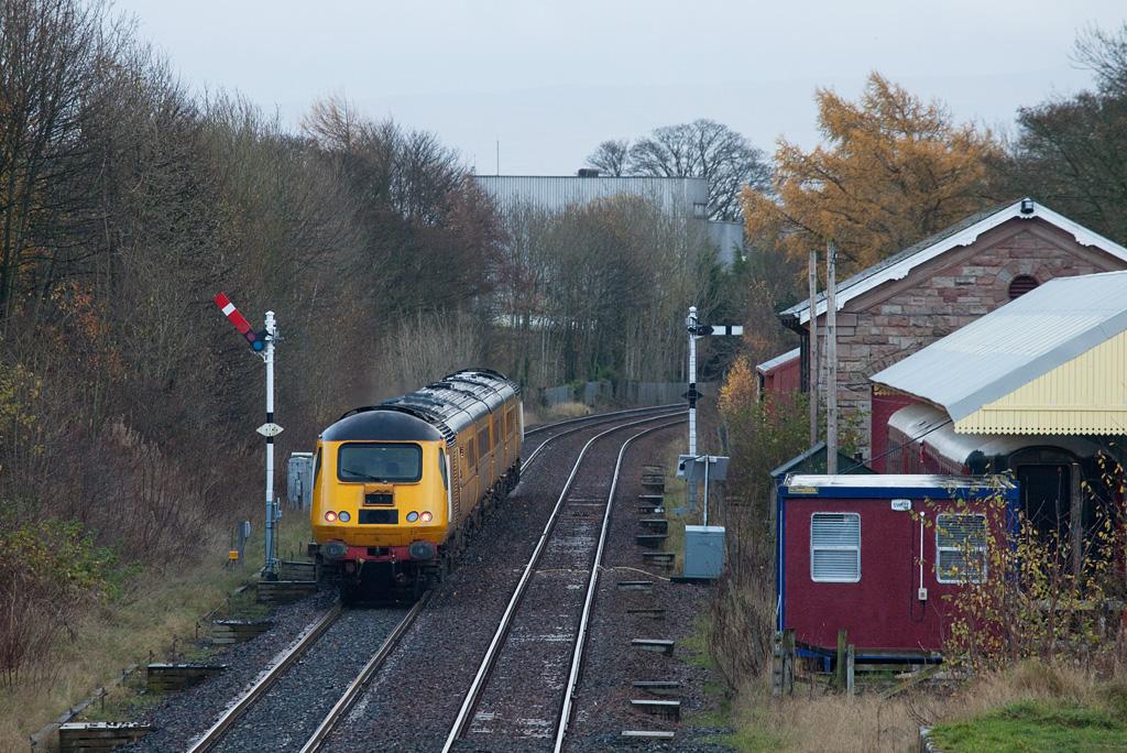 HST measurement train in Appleby.