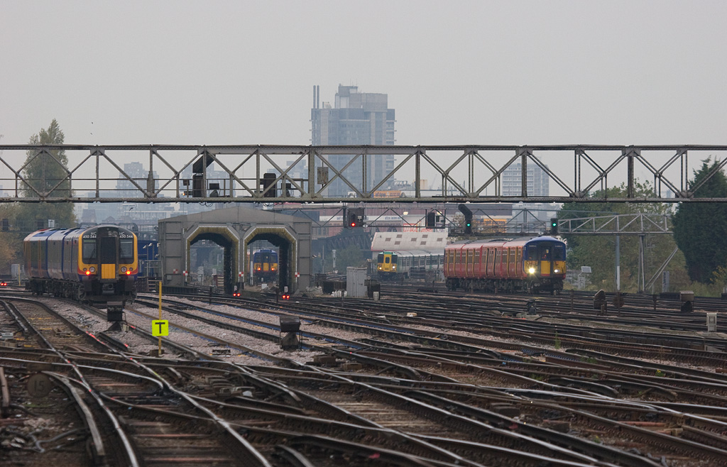 Train time at Clapham Junction. Even though I visited on a Saturday there was still plenty of traffic with a good variety of equipment.