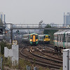 Southern und Southwest Trains EMUs in Clapham Junction. If you like EMUs, Clapham is <b>the</b> place to be!
