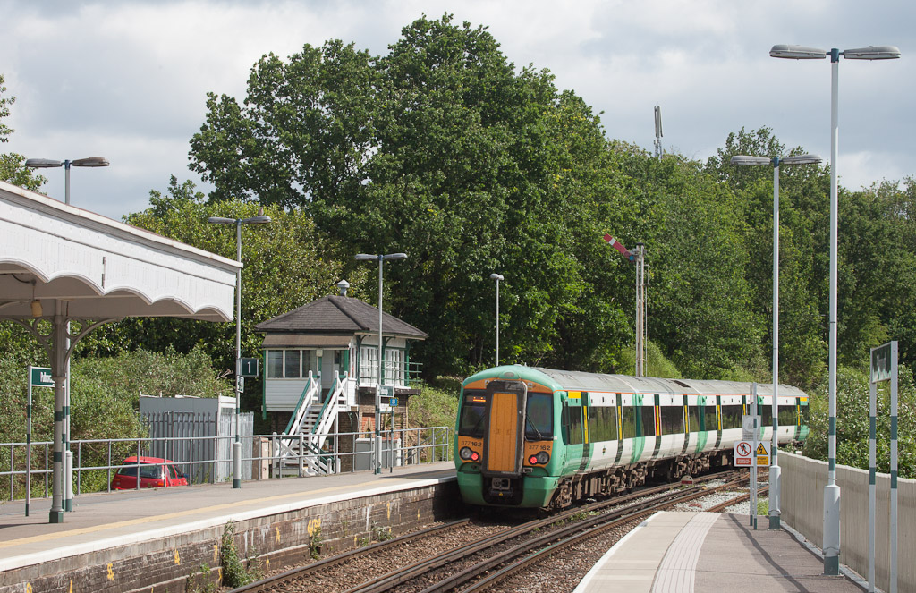 Southern 377 162 in Pulborough, Sussex.