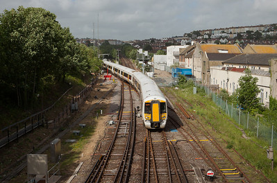 Southeastern Trains 375 921 in Hastings, Sussex.
