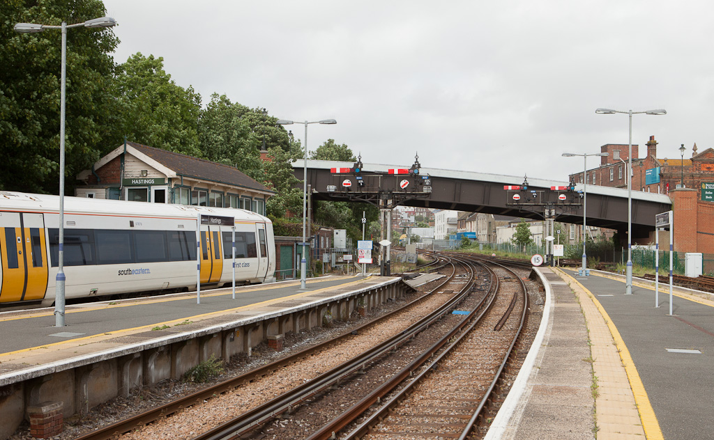 Semaphores in Hastings, Sussex.