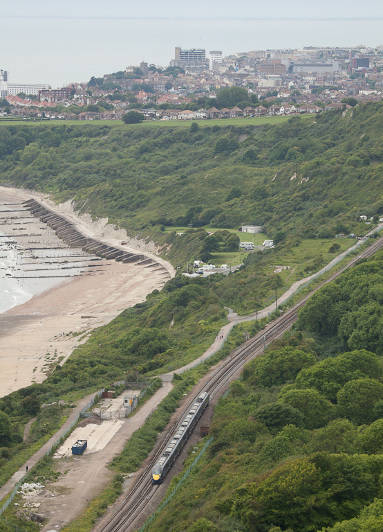 Javelin between Dover and Folkestone passes underneath the Cliff Top Cafe. Try their homemade fruit cake!