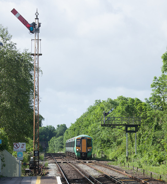 Southern 377 447 in Amberley, Sussex.