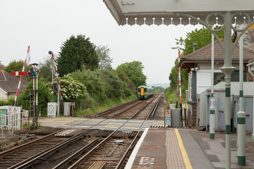Southern 377 163 in Pevensey & Westham, Sussex.