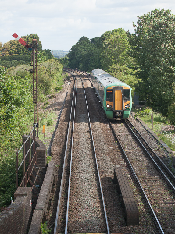 Southern 377 162 in Amberley, Sussex.