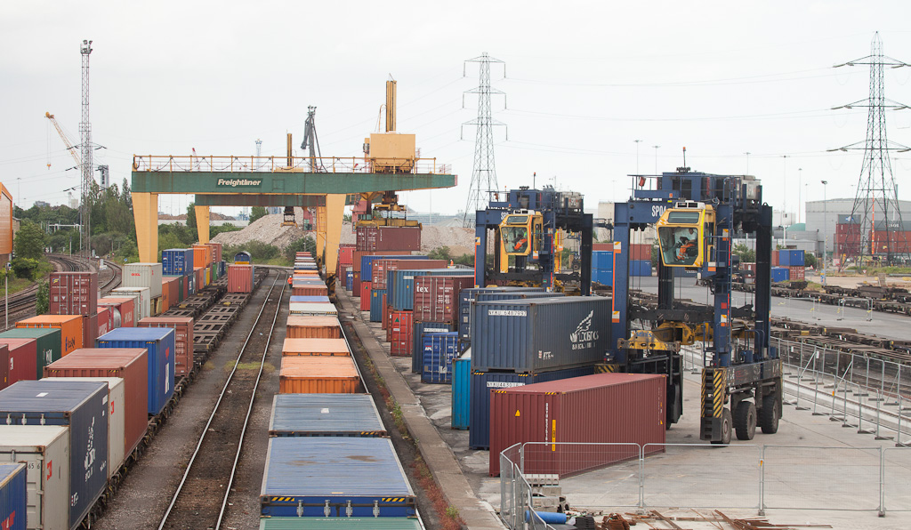 Freightliner container terminal Southampton Maritime.