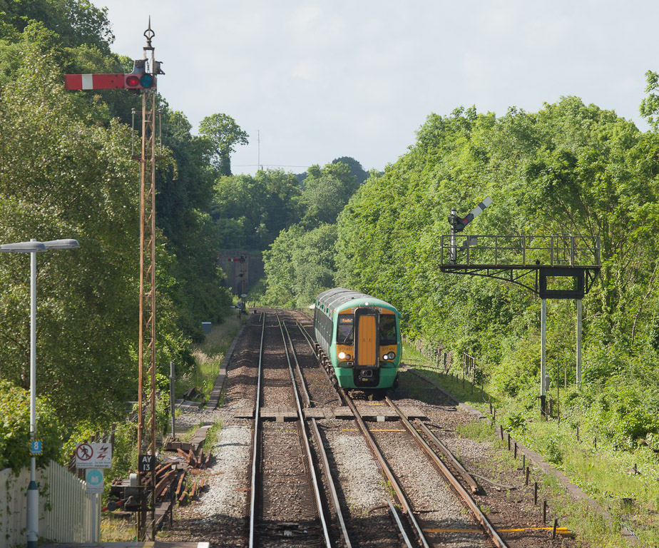 Southern 377 451 in Amberley, Sussex.