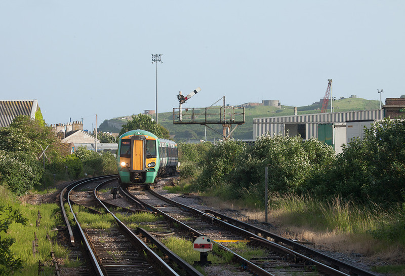 Southern 377 209 in Newhaven Town, Sussex.