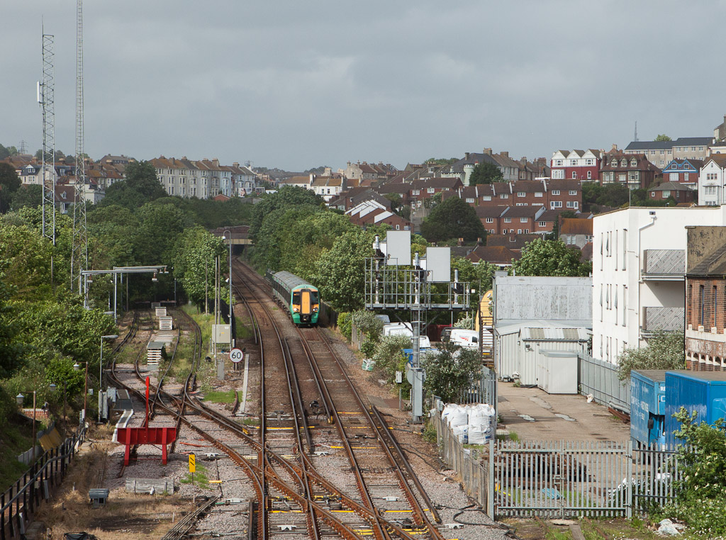 Southern 375 arriving in Hastings, Sussex.