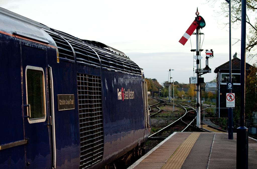 FGW HST departing Worcester Shrub Hill for London Paddington.