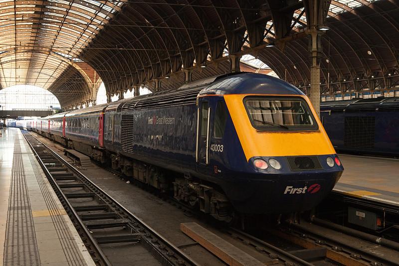 HST 43003 in London Paddington station.