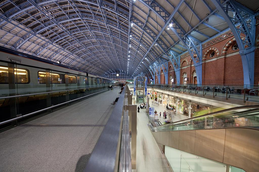 London St. Pancras International station.