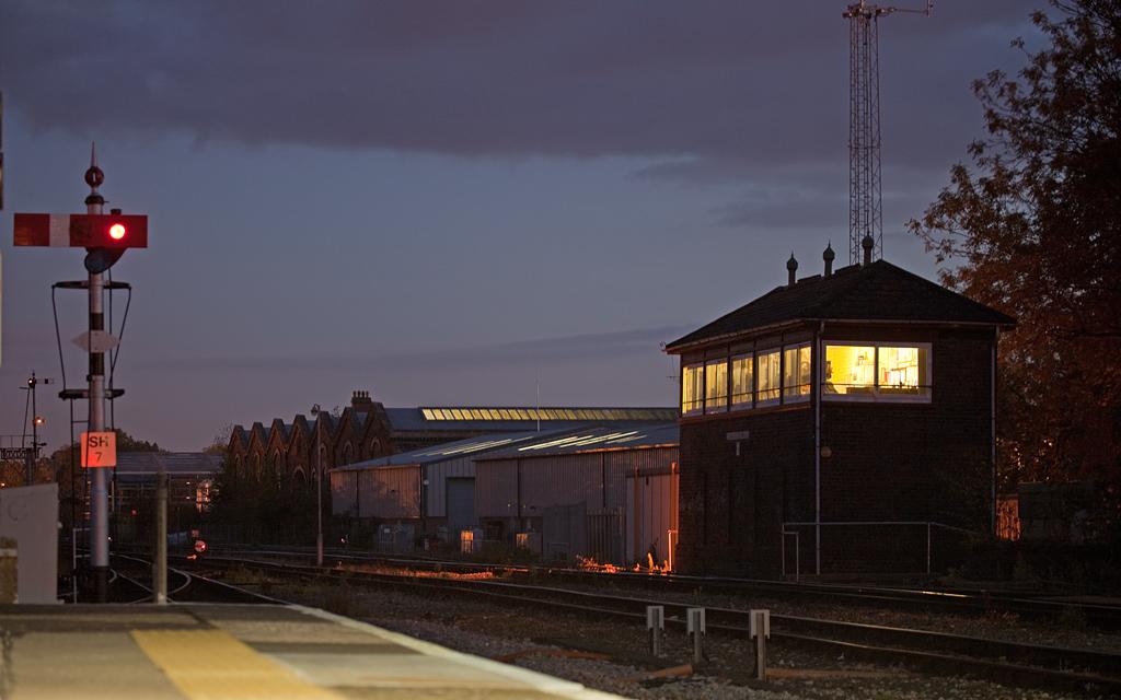 Worcester Shrub Hill station signal box.