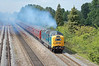 Deltic 55022 Royal Scots Grey powers past Hinksey yard just south of Oxford, with the return Capital Deltic tour 12/06/2010.