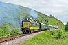 "Deltic D9009 ""Alycidon"" departs Corfe in style, heading for Norden May 2011."