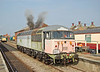 56040 bursts into life at Dereham Mid Norfolk railway, on 20/09/2008 during the diesel gala. At this time hundreds of hours of time & effort had been put into getting her to this state by a dedicated team from the class 56 group.