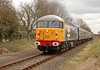56040 is seen in action on the approach to Dereham 27/03/2009. This her first public day in traffic.