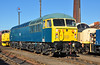 56006 gleams in the sun at Barrow Hill yard after group members gave her a good polish. After securing her for preservation a lot of work has been done to prep her for filling with fluids in the near future, I wish all every success 02/02/2013.