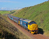 37401 is dor of the 14.35 Barrow to Carlisle as it approaches its stop at St Bees on 6th August 2015