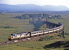 Here we are a week later with a lot having gone terribly wrong. I cannot remember what failed but the snowball effect was spectacular. This is the sleepers crossover dragging wearily away from Rannoch at the time it should have been setting off south from Fort William.<br /> When I got back to the car I realised I had left my glasses on the moor. I could not face going back so drove home without them, buoyed up by a fabulous day. On subsequent visits I never found them. I should have taken it sooner to avoid the sleepers except there's a notice, which may have been the lesser of 2 evils.