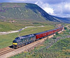 The hard work is over for 37403 as it starts on the descent from Drumochter summit – the highest rail point in Britain – with the Royal Scotsman on 22nd July 1995. It was a bit of a celebrity then, albeit in a dull livery, and it still is today, 29th September 2016, now working for DRS on the Cumbrian Coast in much more photogenic Large Logo livery.