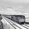 D413 is going well approaching Ais Gill with the 14 coach Glasgow/Edinburgh to Birmingham diverted over the S & C, Date not recorded but it was in the winter.