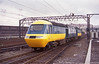 One short Train - HST power cars 43073 and 43102 enter Crewe on the evening of Friday 1st June 1984 en-route to the Works in connection with the open day.