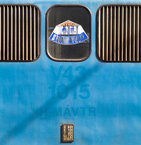 431 015 displays it's old number V43 1015 along with a sticker in the engine room window for Savaria Szombathely. Savaria being Szombathely's Roman name.