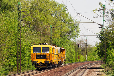 On track plant heads west at Szöny. Friday 26th April 2013.