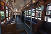 Interior shot Witt streetcar 2424 at Halton County Radial Railway.