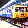 311105 inside Shields Road depot, Glasgow in 1986
