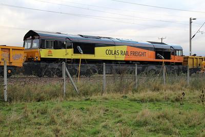 66846 just East of Mead Lane crossing, Hertford East, 29/10/12.
