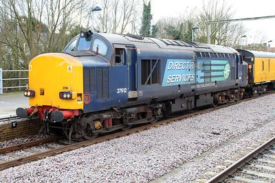 37612 tnt 37611 await Departure from Hertford East on 1214/1Q53 Hertford East-Ferme Park working 14/02/13.