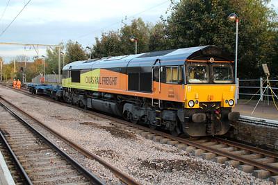 66850 at Hertford East Station on 30/10/12.