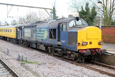 37612 tnt 37611 Depart from Hertford East on 1214/1Q53 Hertford East-Ferme Park working 14/02/13.